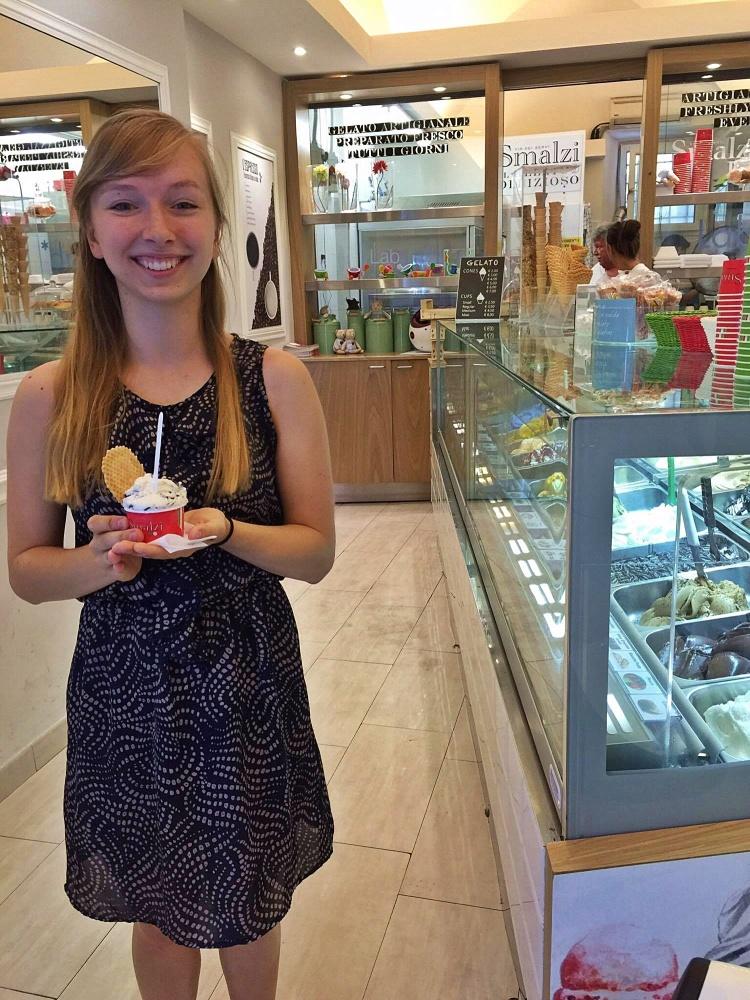 First gelato, September 1