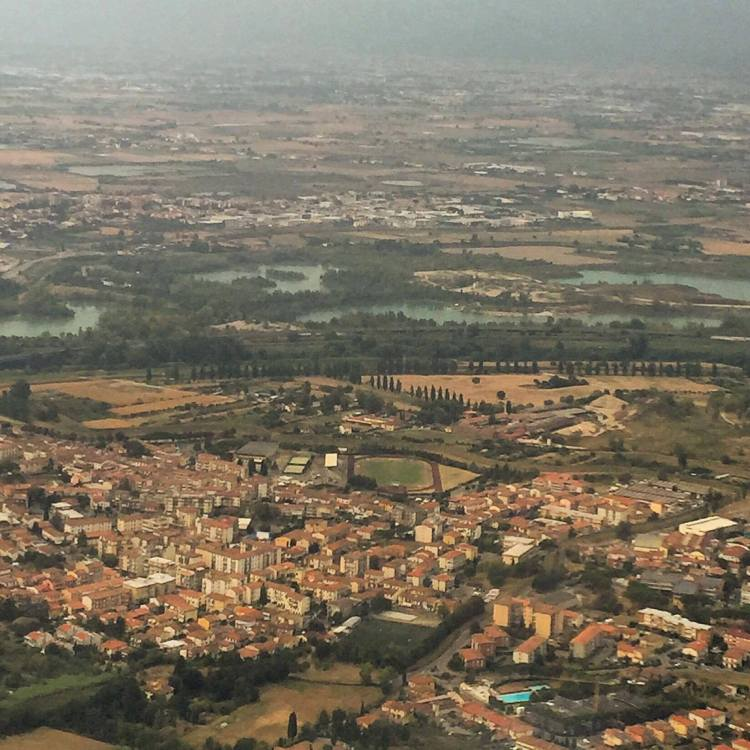 italy from the airplane