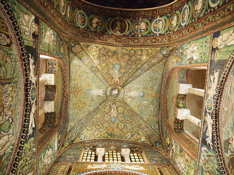 Inside Ravenna's Basilica of San Vitale.