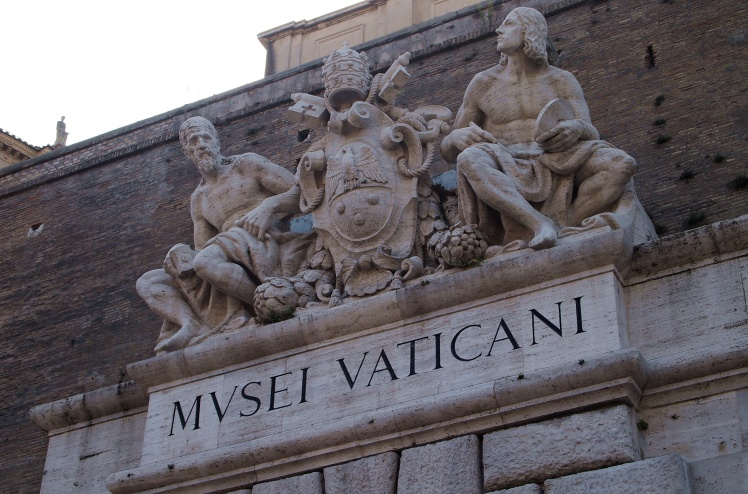 Massive stone walls mark the borders of the Vatican City, which actually qualifies as its own sovereign country.