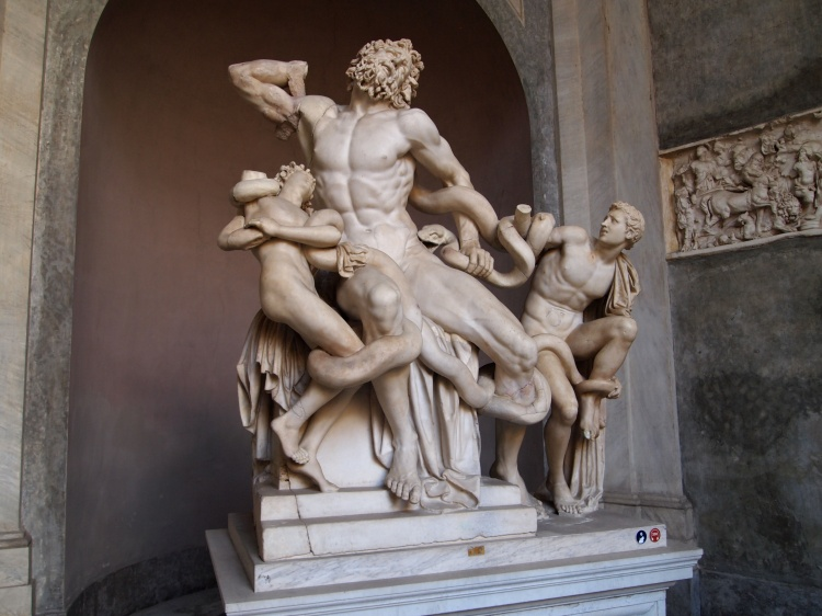 The famous statue of Laocoön and His Sons