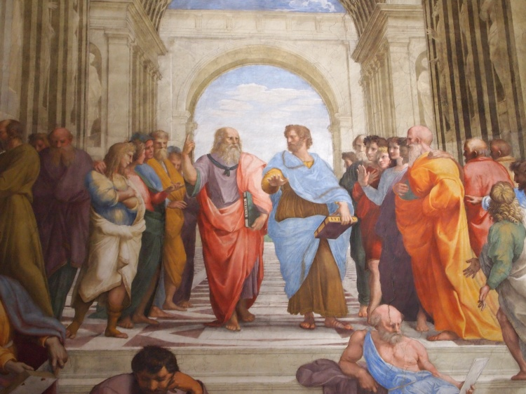 The School of Athens - one of the Renaissance artist Raphael's most famous works.