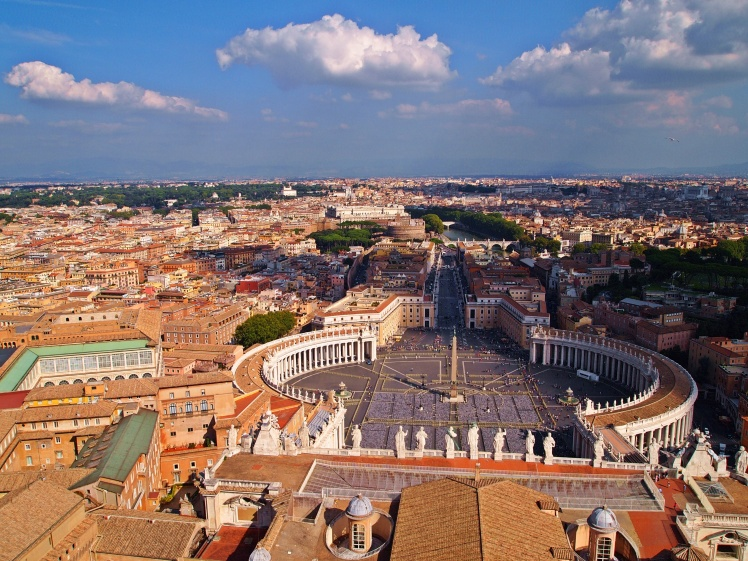 St. Peter's Square as seen from the top of St. Peter's Basilica.