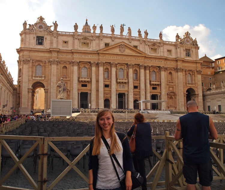 In front of St. Peter's!