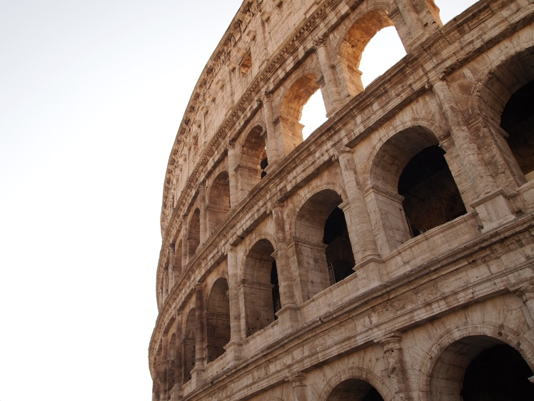 The Colosseum was just one of the sights on our agenda.