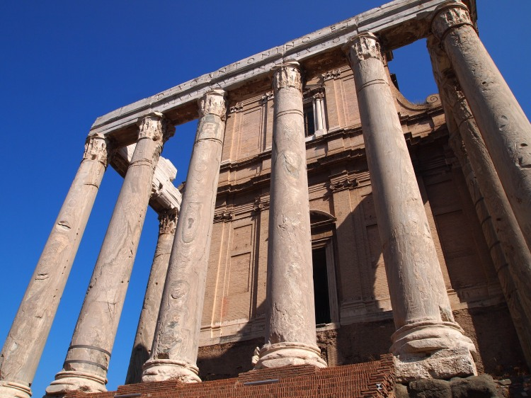 Part of the Temple of Antoninus and Faustina.