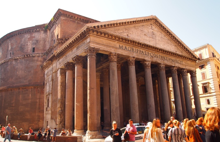 The Pantheon's exterior.