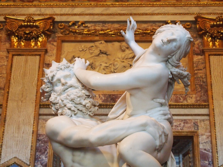 Pluto and Proserpina (or Hades and Persephone, in Greek) by Bernini.