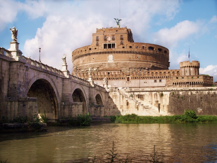 The Castel Sant'Angelo, originally built to be a tomb for an emperor and his family.