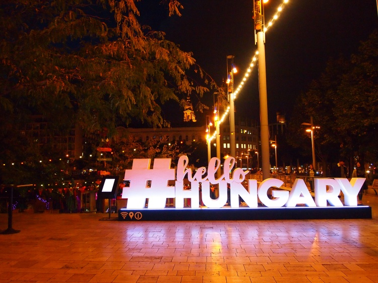 City lights and vibrant Budapest culture.