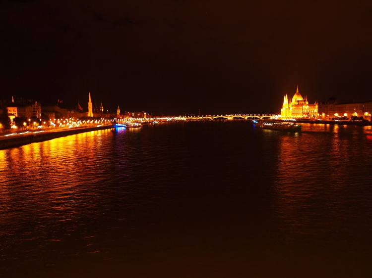 Photos don't do this justice, but here's part of the city reflected in the waters of the Danube.