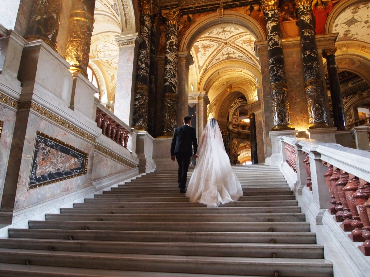 The inside took our breath away. It's so beautifully decorated with marble and other precious stones - the perfect place for this couple's wedding photo shoot!