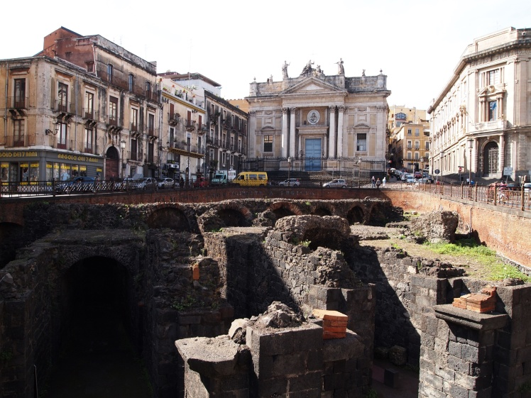Catania's ancient Roman amphitheater.