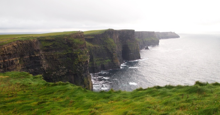 The Cliffs of Moher, one of the most famous natural attractions in Ireland.