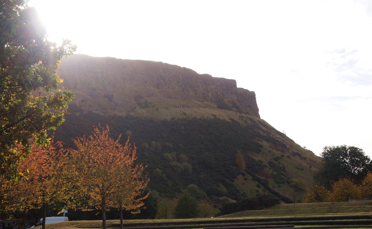 Arthur's Seat from the ground.