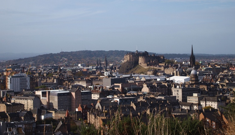 Just look at those views! That's Edinburgh Castle in the upper right.