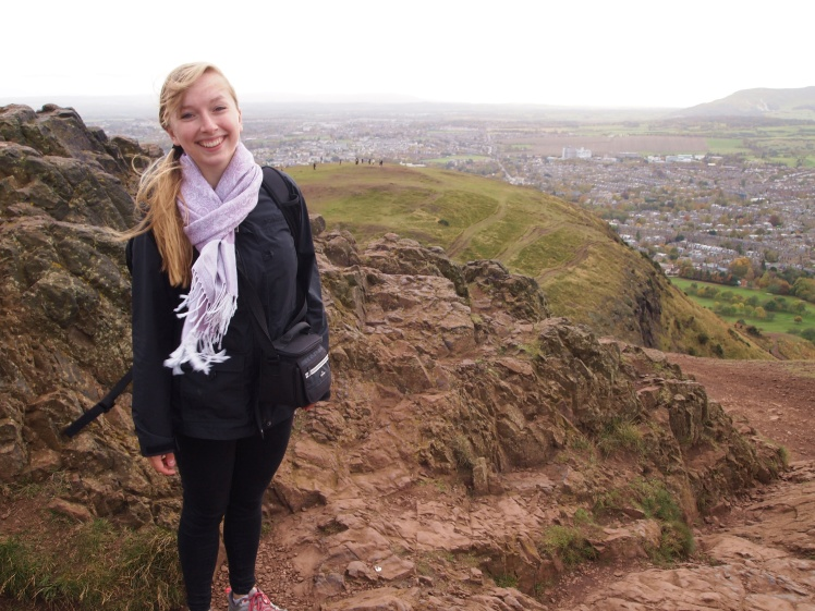 It was so windy at the top!