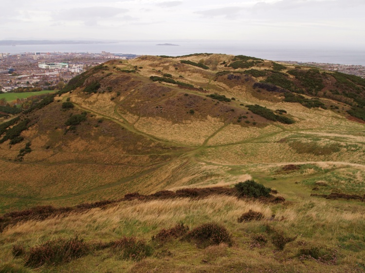 Overlooking Arthur's Seat and the city of Edinburgh.