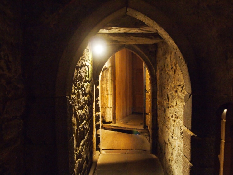 We were able to explore some f the castle's passages, and see how its former royal residents lived.