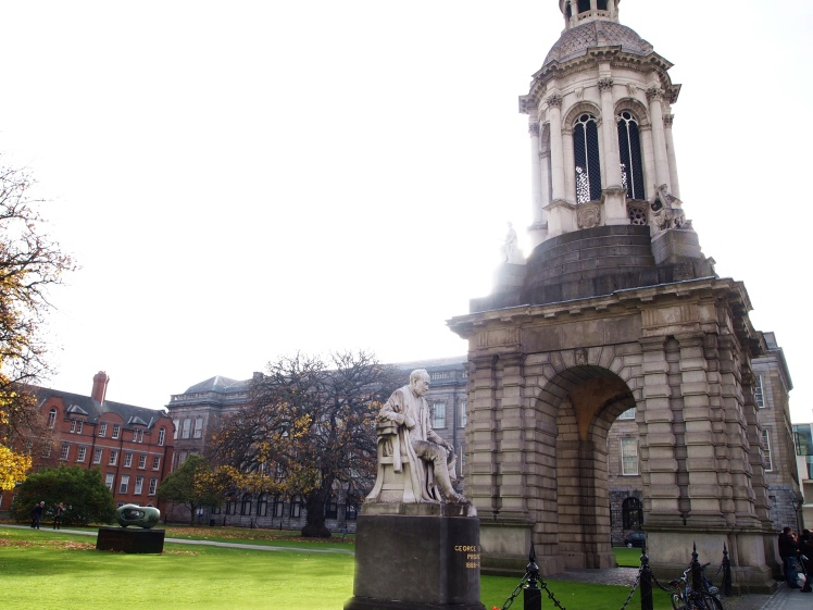 The Campanile of Trinity College greeted us as soon as we stepped on campus.