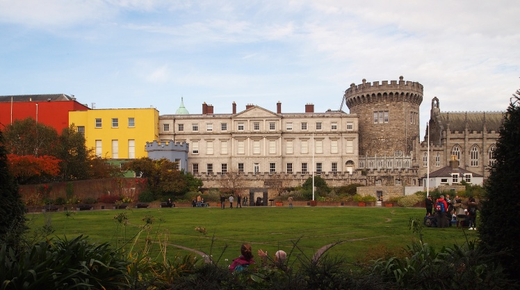 We could see Dublin Castle and its gardens from the castle's stable houses.