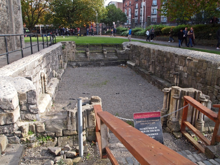 On the grounds are the preserved remnants of the site's earlier human activity.
