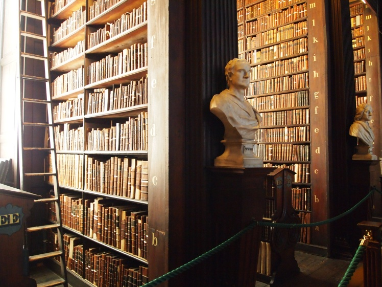 Marble busts line the walkway in the Long Room, each depicting an important philosopher, scientist, writer or academic.